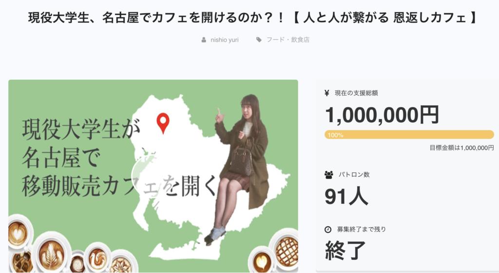 名古屋の大学生が移動販売起業をクラウドファンディング で