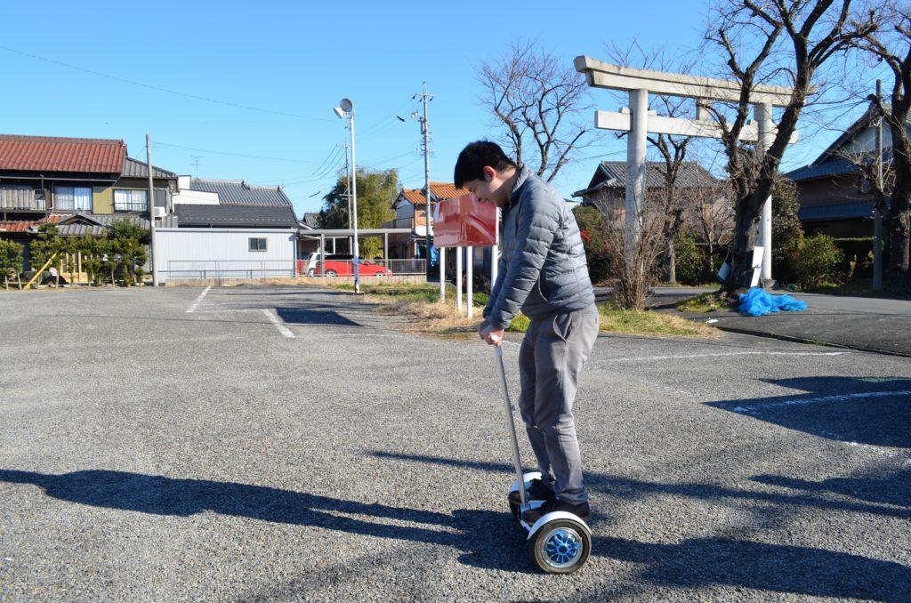 愛知県一宮市「トランプリン&ドローン」bscのセグウェイ