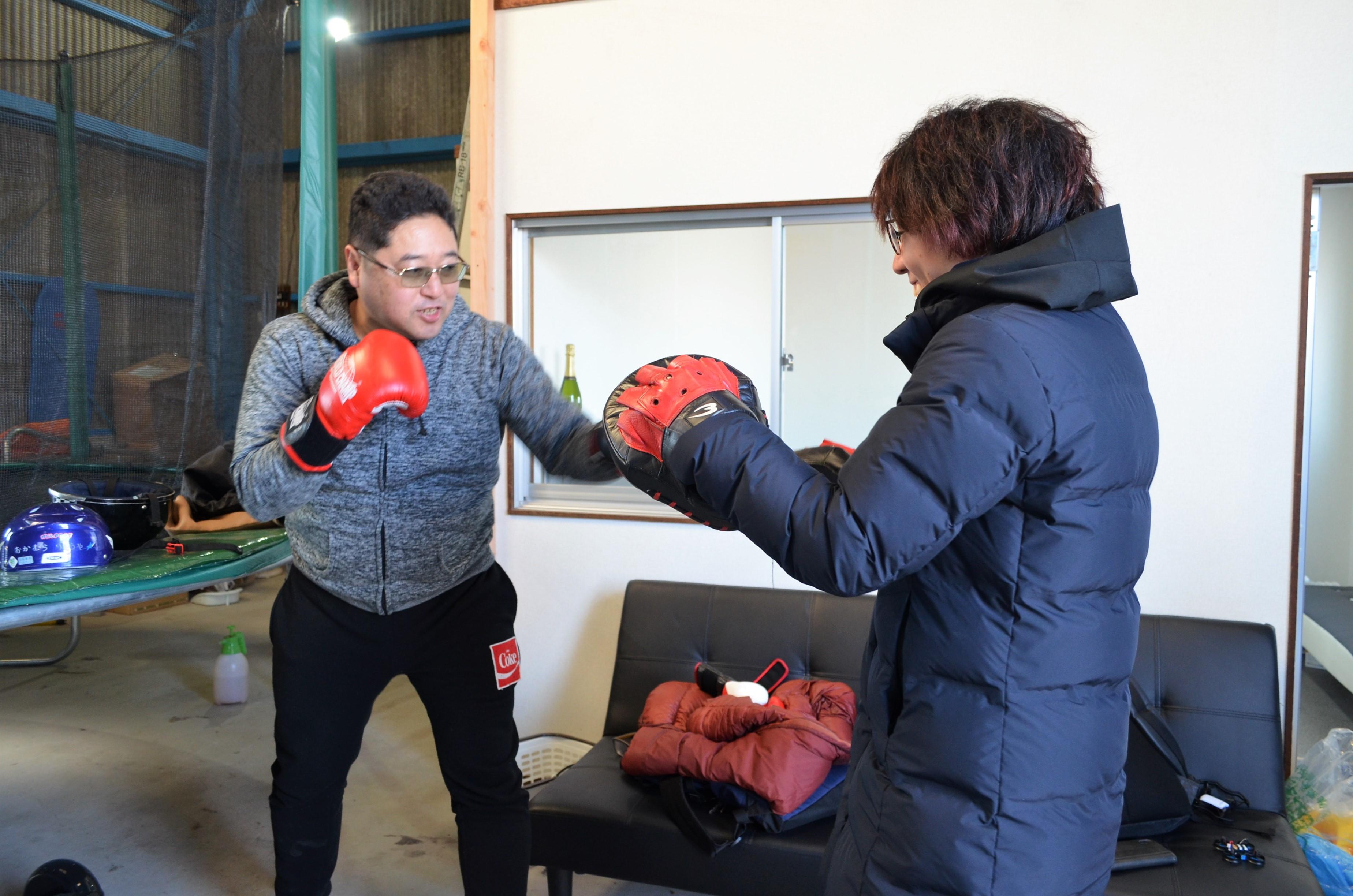 愛知県一宮市の「トランプリン&ドローンbsc」のボクシング